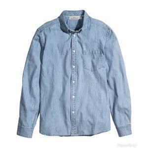 h & m • denim shirt